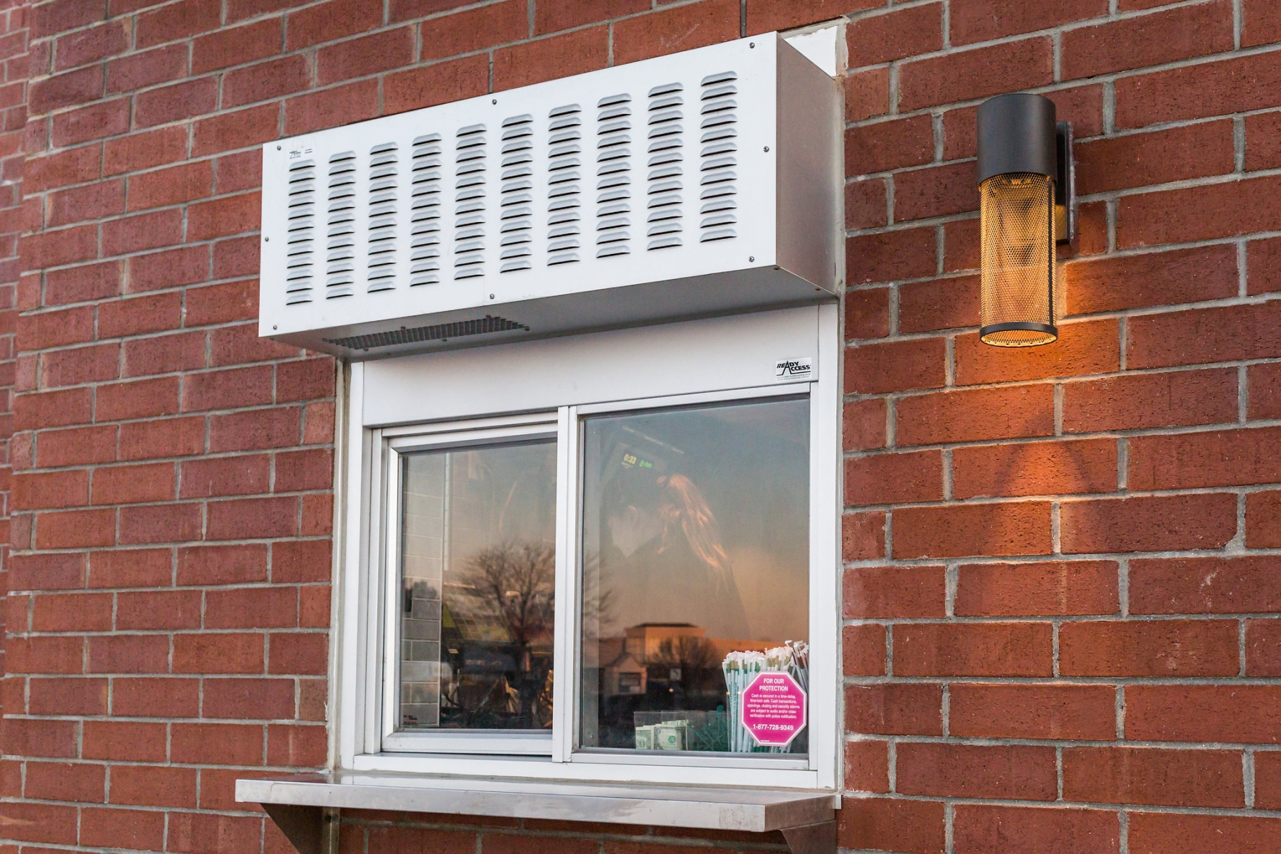 275 with AA300 heated air curtain & shelf