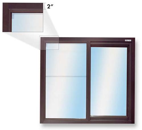 275 Low Profile Single Panel Sliding Transaction Window