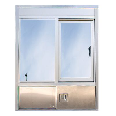 601 Insulated, Hurricane or Security Window with Transaction Drawer