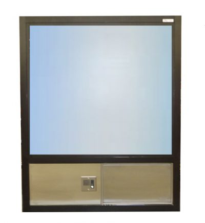 603 Insulated, Hurricane or Security window with Transaction Drawer