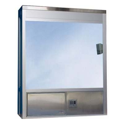 604 Bump Out Style Insulated, Hurricane or Security window with Transaction Drawer