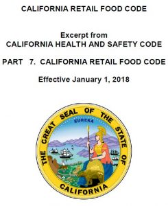 CRFC California Health Code